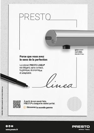 Affiche publicitaire Presto LINEA