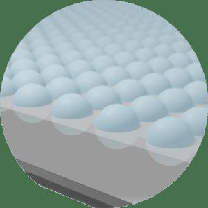 Illustration des billes 3D présentes sur la technologie COVERSAFE™